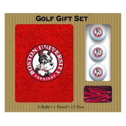 Boston Terriers Embroidered Golf Gift Set