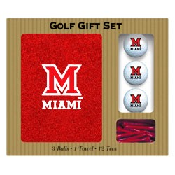 Miami (OH) Redhawks Embroidered Golf Gift Set