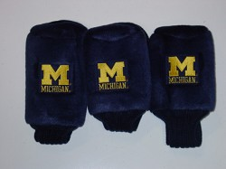 Michigan Wolverines Graphite Golf Headcovers