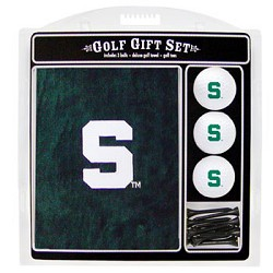 Michigan State Spartans Embroidered Towel Golf Gift Set