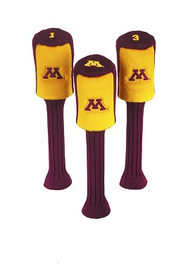 Minnesota Golden Gophers Graphite Golf Headcovers