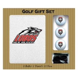 New Mexico Lobos Embroidered Golf Gift Set