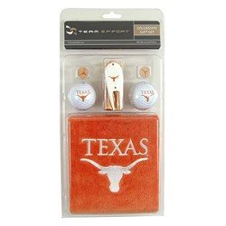 Texas Longhorns Embroidered Towel Golf Gift Set