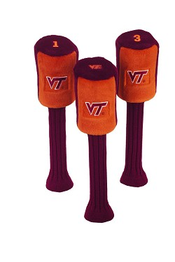 Virginia Tech Hokies Graphite Golf Headcovers
