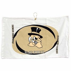 Wake Forest Demon Deacons Printed Hemmed Golf Towel