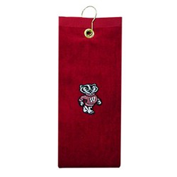 Wisconsin Badgers Embroidered Golf Towel