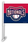 Washington Nationals Car Flag W/Wall Brackett