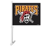 Pittsburgh Pirates Car Flag W/Wall Brackett