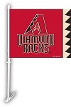 Arizona Diamondbacks Car Flag W/Wall Brackett