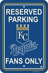 Kansas City Royals Plastic Parking Sign