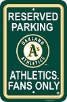 Oakland Athletics Plastic Parking Sign