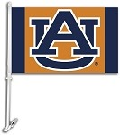 Auburn Tigers Car Flag W/Wall Brackett