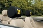 Michigan Wolverines Headrest Covers Set Of 2