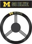 Michigan Wolverines Poly-Suede Steering Wheel Cover
