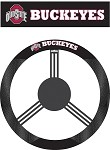 Ohio State Buckeyes Poly-Suede Steering Wheel Cover