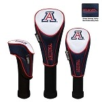 Arizona Wildcats Nylon Graphite Golf Set of 3 Headcovers