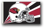 Arizona Cardinals NFL 3'x5' Helmet Flag