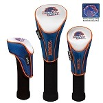 Boise State Broncos Nylon Graphite Golf Set of 3 Headcovers