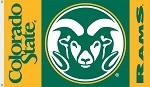 Colorado State Rams 3 Ft. X 5 Ft. Flag W/Grommets