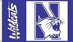 Northwestern Wildcats 3 Ft. X 5 Ft. Flag W/Grommets