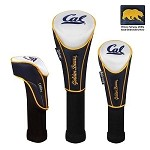 Cal-Berkeley Golden Bears Nylon Graphite Golf Set of 3 Headcovers
