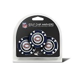 Chicago Bears NFL Set of 3 Poker Chips