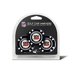 Cincinnati Bengals NFL Set of 3 Poker Chips