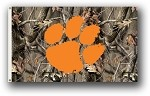Clemson Tigers 3 Ft. X 5 Ft. Flag W/Grommets - Realtree Camo Background