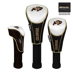 Colorado Buffaloes Nylon Graphite Golf Set of 3 Headcovers
