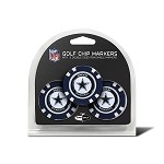 Dallas Cowboys NFL Set of 3 Poker Chips