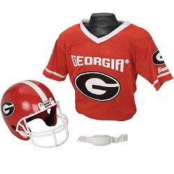Georgia Bulldogs Franklin Sports NCAA Youth Helmet and Jersey Set