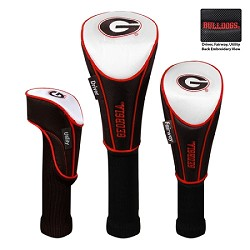 Georgia Bulldogs Nylon Graphite Golf Set of 3 Headcovers