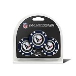 Houston Texans NFL Set of 3 Poker Chips
