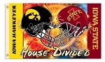 Iowa - Iowa State 3 Ft. X 5 Ft. Flag W/Grommets - Helmet House Divided