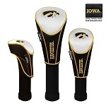 Iowa Hawkeyes Nylon Graphite Golf Set of 3 Headcovers