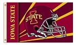Iowa State Cyclones 3 Ft. X 5 Ft. Flag W/Grommets - Helmet Design