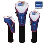 Kansas Jayhawks Nylon Graphite Golf Set of 3 Headcovers