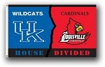 Kentucky - Louisville 3 Ft. X 5 Ft. Flag W/Grommets - Rivalry House Divided