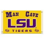 Louisiana State TigersMan Cave 3 Ft. X 5 Ft. Flag W/ 4 Grommets