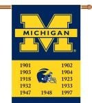 Michigan Wolverines Champ Years 2-Sided 28