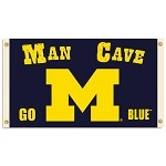 Michigan Wolverines Man Cave 3 Ft. X 5 Ft. Flag W/ 4 Grommets