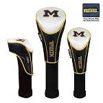 Michigan Wolverines Nylon Graphite Golf Set of 3 Headcovers