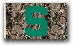 Michigan State Spartans 3 Ft. X 5 Ft. Flag W/Grommets - Realtree Camo Background