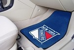 New York Rangers NHL Two Piece Car Mat