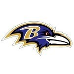 "Baltimore Ravens 12"" Window Film Decals"