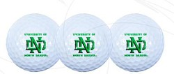 North Dakota Fighting Sioux Golf Balls set of 3