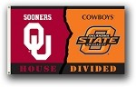 Oklahoma - Oklahoma St. 3 Ft. X 5 Ft. Flag W/Grommets - Rivalry House Divided