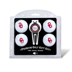 Oklahoma Sooners 4 Ball Divot Tool Golf Gift Set