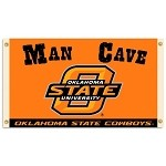 Oklahoma State CowboysMan Cave 3 Ft. X 5 Ft. Flag W/ 4 Grommets