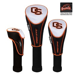 Oregon State Beavers Nylon Graphite Golf Set of 3 Headcovers